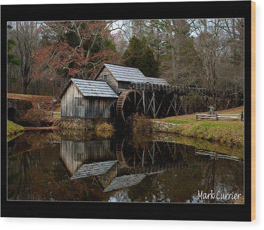 Mabry Mill V Wood Print