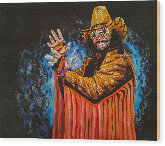 Macho Man Randy Savage Wood Print