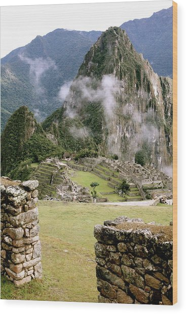 Machu Picchu In The Morning Light Wood Print