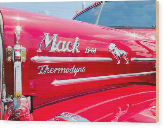 Mack Truck Hood Badges Wood Print