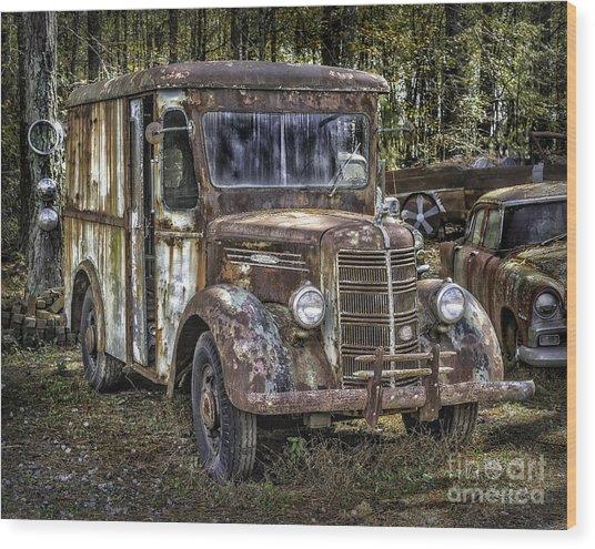 Very Old Mack Truck Wood Print