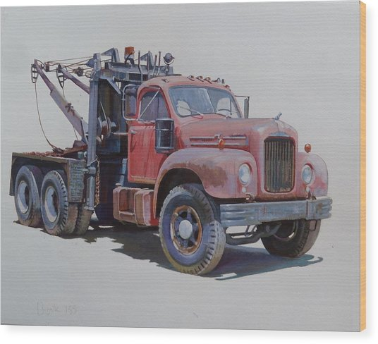 Mack Wrecker. Wood Print
