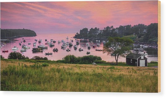 Mackerel Cove Wood Print