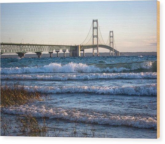 Mackinac Bridge Michigan Wood Print