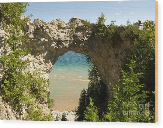 Mackinac Island Arch Wood Print