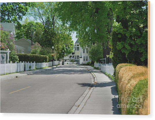 Mackinac Island Street Wood Print