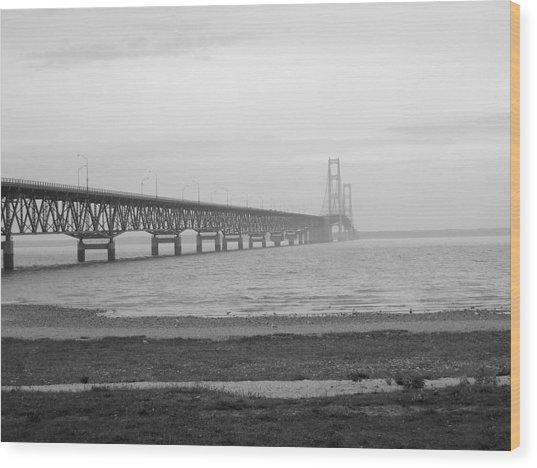 Mackinaw Bridge Wood Print by Scott Hovind