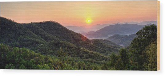 Macon County North Carolina Mountains Wood Print