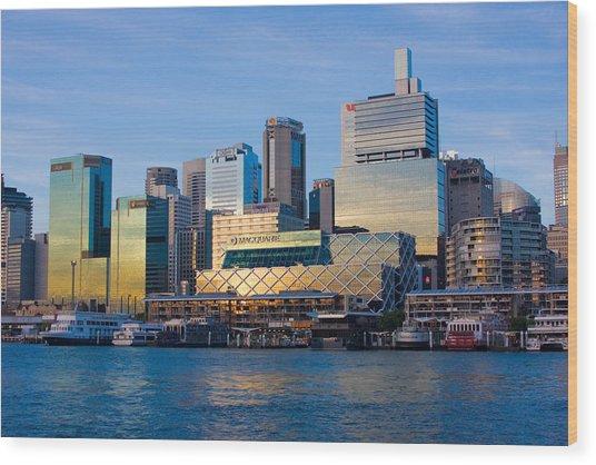 Macquarie Sunset Wood Print