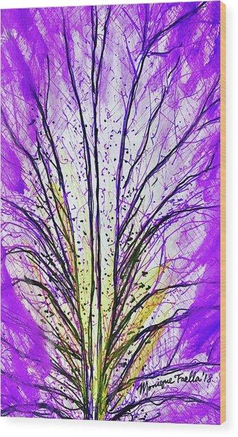 Macro Iris Petal Wood Print