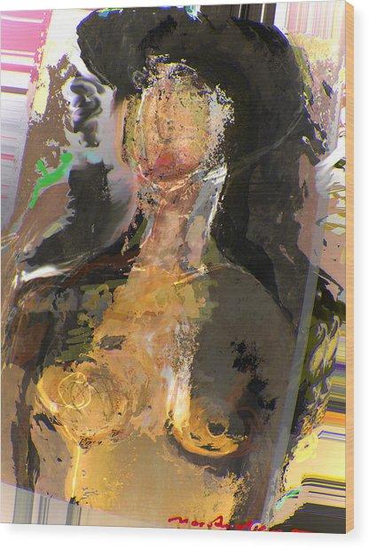 Madam Bouran Wood Print by Noredin Morgan