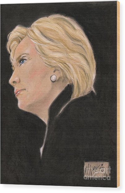 Madame President Wood Print