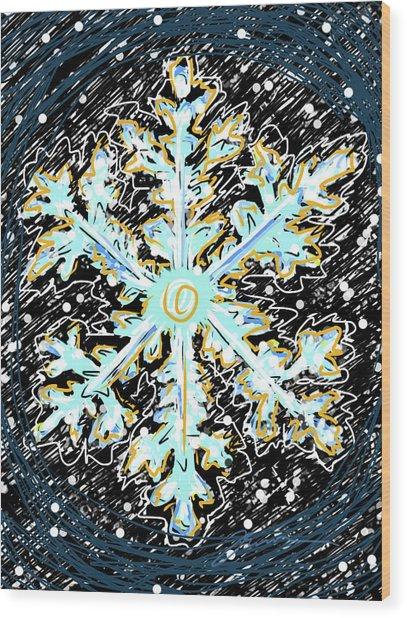 Madeline Snowflake Wood Print