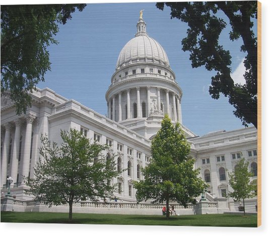 Madison Wi State Capitol Wood Print