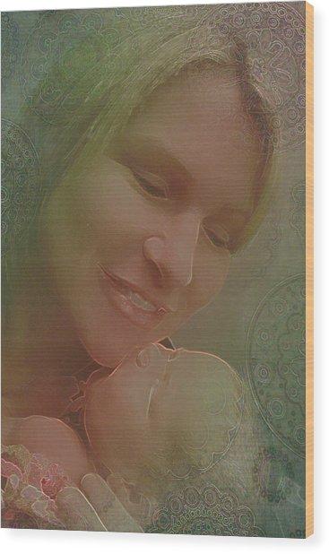 Madonna And Child 1 Wood Print