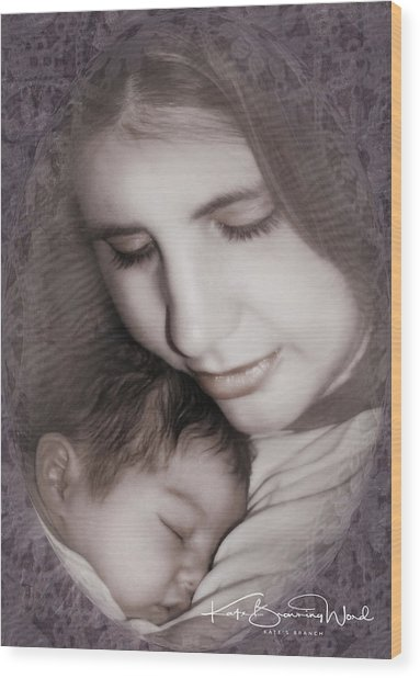 Madonna And Child 3 Wood Print
