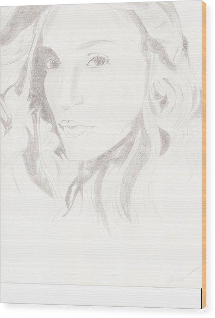 Madonna Wood Print by Carlos Hyman