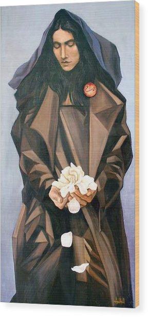 Madonna Wood Print by Ixchel Amor