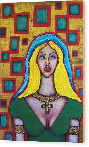 Madonna-putana Wood Print by Brenda Higginson
