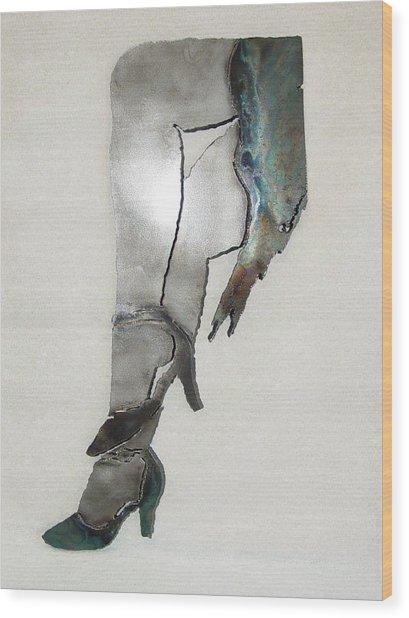 Mae Sold Wood Print by Steve Mudge