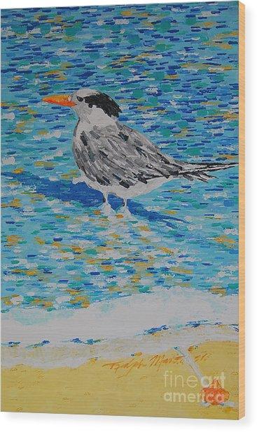 Maestro Of The Beach Wood Print