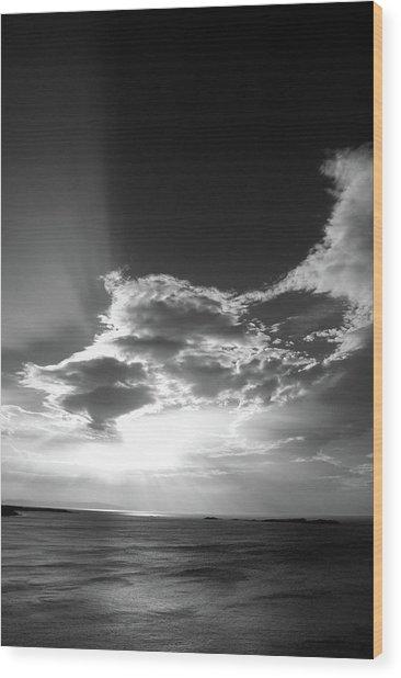 Magheracross Sunset Wood Print