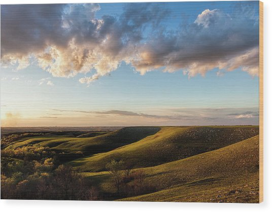 Magic Hour In The Flint Hills Wood Print