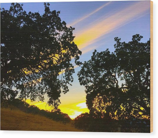 Magic Hour Sunset Wood Print