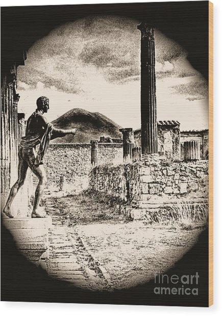 Magic Lantern Pompeii Wood Print