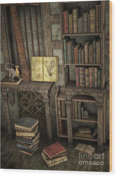 Magic Literature Wood Print