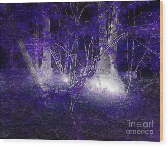 Magic Lives Within The Forest Wood Print