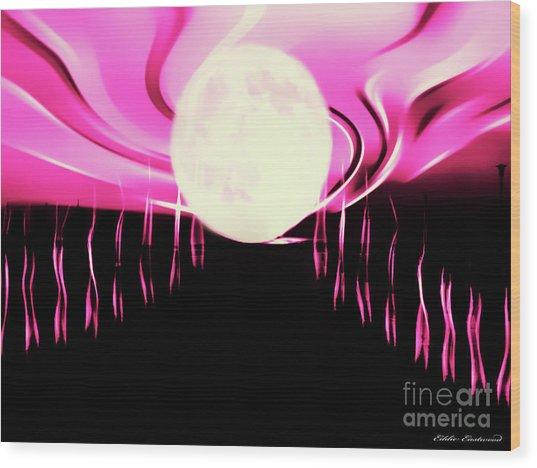 Magic Moon Wood Print