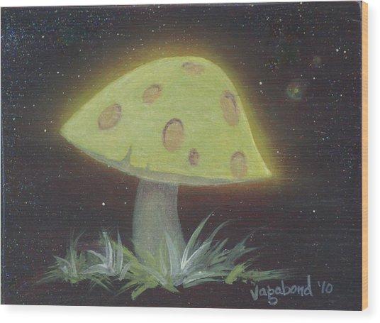Magic Mushroom Wood Print