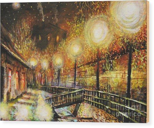 Magic Night Wood Print