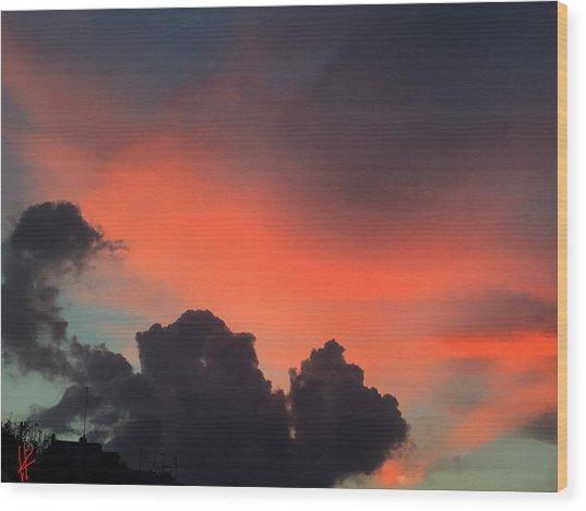 Late Day On Paros Island  Wood Print