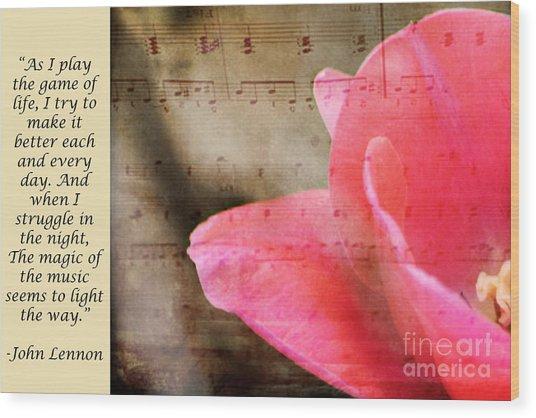 Magic Of Music Wood Print