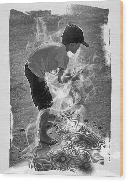 Magic Sand Wood Print