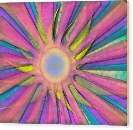Magic Sun Wood Print
