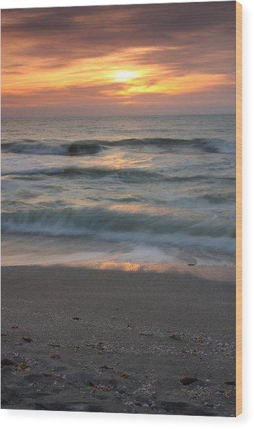 Magical Captiva Beach Sunset Wood Print by Larry Federman