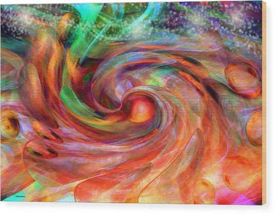 Magical Energy Wood Print