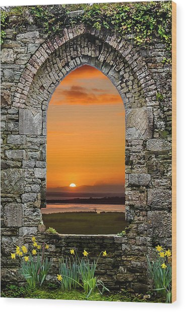 Wood Print featuring the photograph Magical Irish Spring Sunrise by James Truett