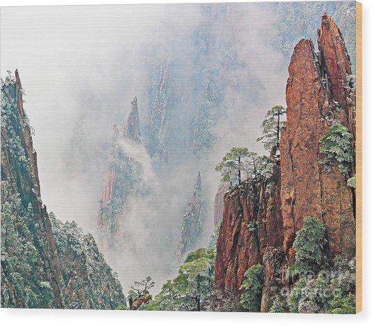 Magical Mountain Wood Print by PuiYuen Ng