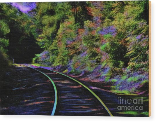 Wood Print featuring the photograph Magical Mystery Tour by Patti Whitten