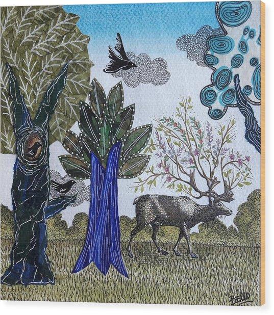 Magical Nature Wood Print