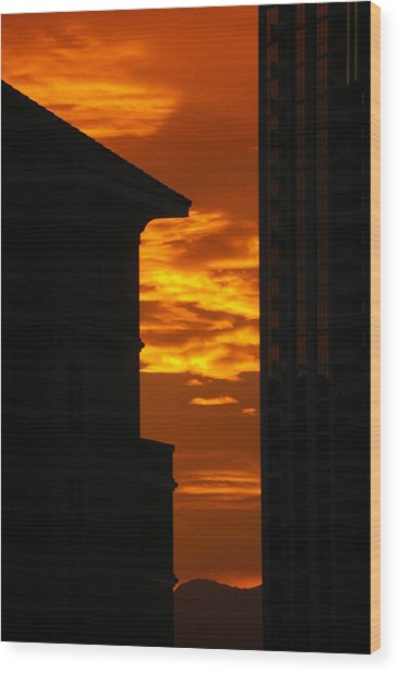 Magical Sunset Wood Print by Paula Strahan