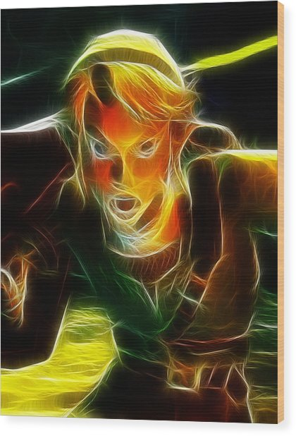 Magical Zelda Link Wood Print