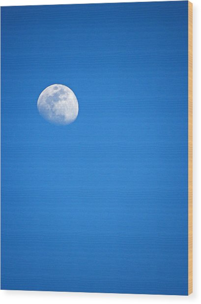 Magnificent Maui Moon Wood Print by Elizabeth Hoskinson