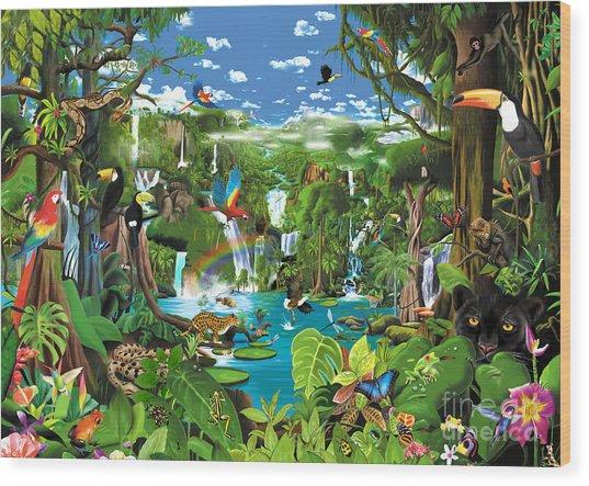 Magnificent Rainforest Wood Print