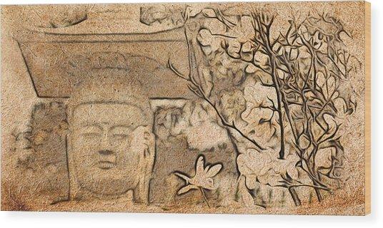Magnolia Buddha Wood Print