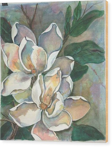 Magnolia Four Wood Print